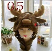 Free Shipping 200pcs/lot 2012 fashion kids hat chicken monkey animal hats caps beanie hat winter hats [A53]