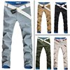 2013 summer thin men's long trousers fashion slim straight casual pants male(China (Mainland))