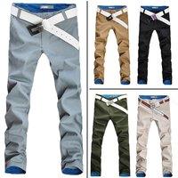 2015  thin men's long trousers fashion slim straight casual pants male