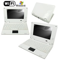 Mini 7inch Laptop LCD Windows CE 6.0 VIA VT8650 800MHz 2GB HDD WIFI Netbook(White)