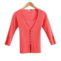 Free shipping!/-HY005-Good elasticity  (sun-top+Three Quarter Cardigan) Two piece set Knitwear/Hot Sale!