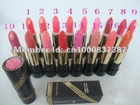 3Pcs/Lot Professional Makeup Tubular Lustre Lipstick Lip Stick 17 Color FREE SHIPPING