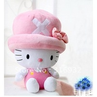 Super cute Hello kitty mix One Piece TONY TONY CHOPPER  Plush Dolls, 42cm, free shipping