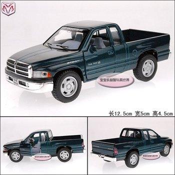 green 1:44 dodge pickup ram 1500  alloy car models free air mail
