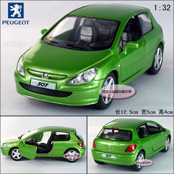 peugeot 307 xsi green alloy car model free air mail
