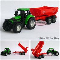 Siku tractor trailer delicate baby alloy car model