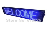 DHL Free Shipping Semi-outdoor advertising led message sign, Blue color 4 lines  wireless control F24128B