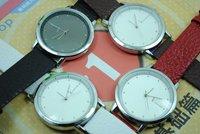 Free Shipping Wholesale brand Analog quartz watch women men fashion Leather wrist watch YR8237
