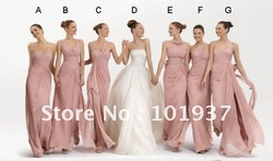 2013 pomotion - Free Shipping 7 Styles Sexy Sweetheart A-line Ruffle Bridesmaid Dress LN205(China (Mainland))