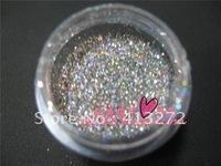 Nail art supplies ultra bright flash powder/bright pink/laser powder/fine flash powder/phototherapy a magic color silver