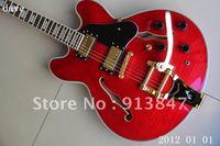 New Arrival G ES 355 TDSV 1959 Bigsby Bridge semi hollow Electric Guitar red 335 355