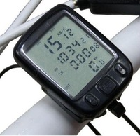New 5 PCS Waterproof big LCD Cycling Bike Bicycle Computer Odometer Speedometer with 24 Functions Free Shipping