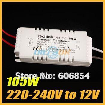105W 220-240V to12V Halogen Light LED Driver Power Supply Electronic Transformer White