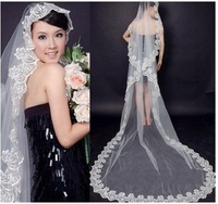 aa Free shipping wedding veil 3 meters head yarn long lace veil veil trailing veil aaa28