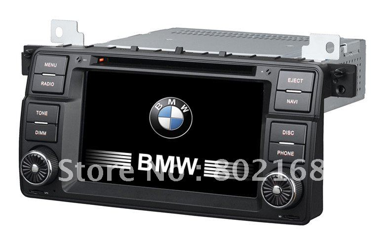 "7""Special Car gps radio navi system for BMW E46 with can-bus/Buletooth/GPS/DVD/DVBT/OPS/AC/Iphone/Ipod/Radio/RDS function(China (Mainland))"