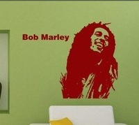 New arrived! Free Shipping:Bob Marley  Wall Art Removable Decal Stickers