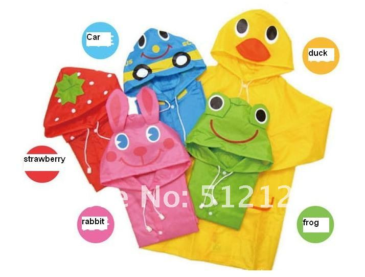 Free shipping 5pcs/lot Children Linda Linda Funny Rain Coat Kids Raincoat Rainwear Rainsuit Waterproof for spring for summer(China (Mainland))