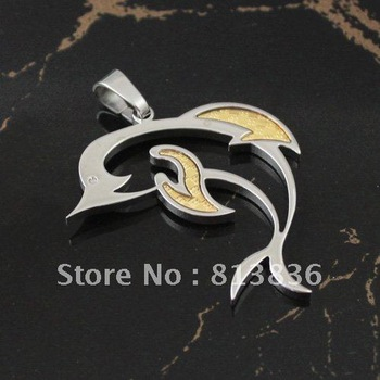 PL595!Min Order is USD10!S.S316L Quality Popular Ladies' Female Dolphine Fashion Metal  Stainless Steel Adult Charm Ornament