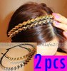 Women Lady Girl Hair Band Hot Fashion Headband Bow Spike Rivets Studded Band