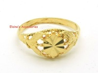MIN.ORDER $15,fashion shine 24K gold plated rings