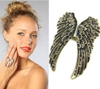 Min.order is $15 (mix order) fashion Retro punk feather wings rings