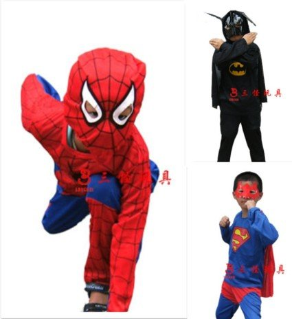 Супермен /batman/spiderman детские костюм косплей костюм