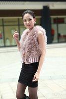 Hotsale: factory direct   Genuine Turkey  Fur  vest /lady Waistcoat with lace  / Drop sale /Factory direct sale