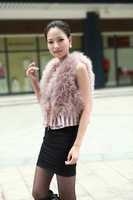 Hotsale: factory direct   Genuine Turkey  Fur  vest /lady Waistcoat with lace  / Drop sale /Factory direct sale