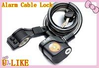 free shipment 12*120cm bicycle alarm lock ,bicycle cable alarm lock