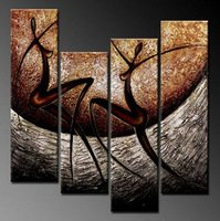 100% of high quality pure hand draw modern abstract framework oil painting