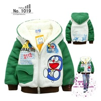 Free shipping Baby child small children's clothing thickening double layer berber fleece outerwear wadded jacket