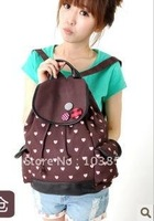 2012 han fashion lovely backpack backpack leisure dot double shoulder pack students
