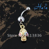 BJ00325!Min Orde is USD10!Stainless Steel Fashion Rhinestone Crystal Body Lady Piercing Navel Button Ring Puncture Belly Jewelry