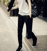 Promotion 2012 autumn new men's fashion casual pants,men's slim black pants,special offer,free shipping,SMB621