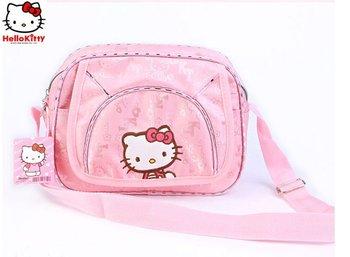 free shipping girl's hello kitty casual bag canvas lovely pupils bag children across bag
