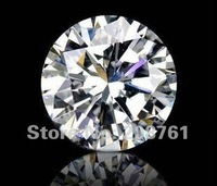 wholesale/retail synthetic moissanite diamonds supplier,1.25carats moissanite gemstone 7mm ,VVS1 white color ,Free Shipping