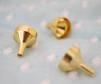 free shipping 10pcs/lot  factory wholesale  Eco-friendly mini perfume metal funnel, tundish, cosmetic tool