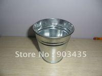 Galvanized Zinc Tin Metal  Herb/ Flower Pot Planter (Silver) (8.5*8.5cm)