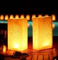 Free shipping 26*15*9cm HIGH QUALITY! Flame Retardant Paper Candle Bag/Luminary Bag for wedding/birthday/valentin/christmas