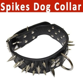 For Your Lovely Pets!! Free shippingPU  Leather Spikes Dog Collar/Pet leather collar/high quality leather dog collar