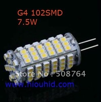 10pcs/lot G4 102 3528 SMD LED Car Boat Marine Lamp Bulb Light Warm White12V New free shipping