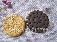 flat back resin Biscuit  for phone decoration 10pcs/lot(each color5pcs)