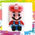 100% Real 2GB 4GB 8GB 16GB Rubber Cartoon 3D Super Mario USB 2.0 Flash Memory Stick Pen Drive Thumbdrive U Disk Gift + Box