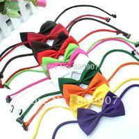 Free shipping! 100pcs lot Dog Neck Tie Dog Bow Tie Cat Tie Pet Grooming Supplies Pet Headdress Flower
