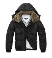 New arrival men down jacket/mens winter feather warm coat/hooded down jacket/men's down clothes+free shipping
