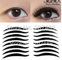 wholesale retail 16PC/PACK black stripe make up eyeliner  Smoky beauty whcn