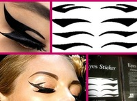 8PC/SHEET/PACK black stripe make up eyeliner  Smoky beauty sticker whcn