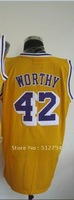 Free Shipping,#42 Worthy Basketball Jersey,Top quality Sports Jersey,Embroidery logos,Size 44-56,Mix Order