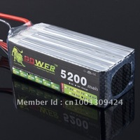 Lipo Li-poly Lion Power 22.2v 5200mah 30C - 40C 6S Battery LiPoli 22,2V 5200mAh 30C 6S1P Akku Batterie