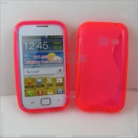 Wholesales ,S-Type TPU Case Cover for SAMSUNG Galaxy ACE Duos GT-S6802  for android phone .free shipping, P-SAMS6802TPUS001
